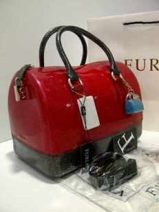 Furla Glitter 2 Tones Black+Red (i00)